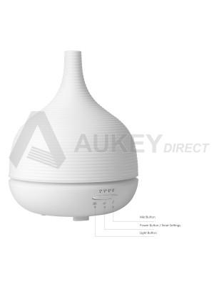 AUKEY BE-A5 - Diffuseur d'Huiles Essentielles 500ml à Brume Fraîche avec Réglage de l'Heure et 7 Couleurs Changeables de Lumière LED Humidificateur avec Fonction d'Arrêt automatique.