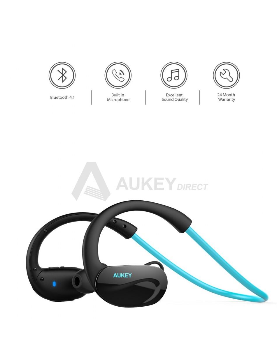 AUKEY EP-B34 Écouteurs sans fil Bluetooth 4.1 (Bleu)