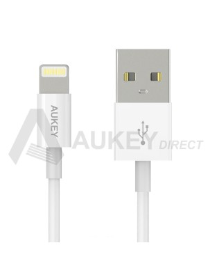 AUKEY CB-D8 câble lumineux USB (Blanc)