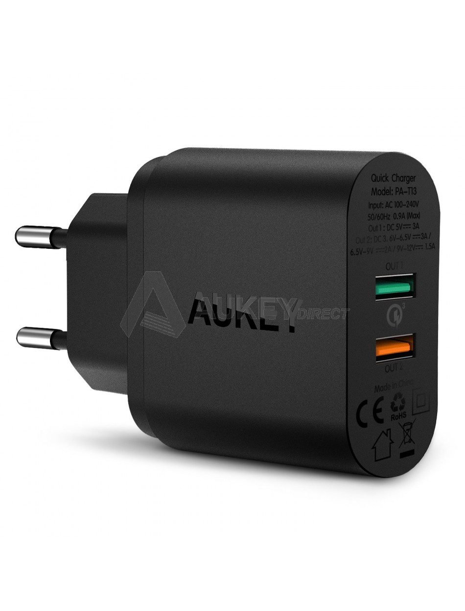 AUKEY PA-T13 chargeur mural 33W 2 ports Quick Charge 3.0