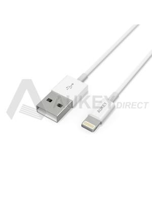 AUKEY CB-D20 câble lumineux USB (Blanc)