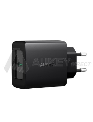 AUKEY PA-Y8 - USB C Chargeur Secteur avec Power Delivery 3.0 27W Chargeur Mural