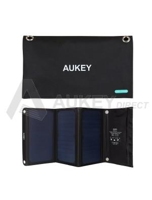 AUKEY PB-P4 Chargeur Panneau Solaire 21W 2 ports