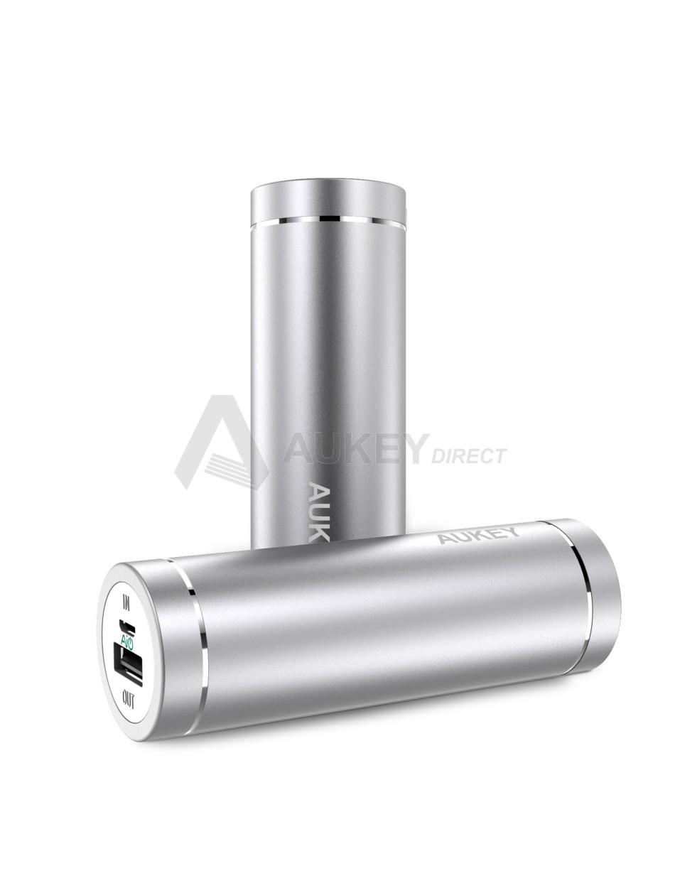 AUKEY PB-N37 Mini Power Bank 5000mAh (Argent)