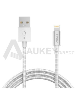 AUKEY CB-D16 Apple MFi câble lumineux USB (Gris)
